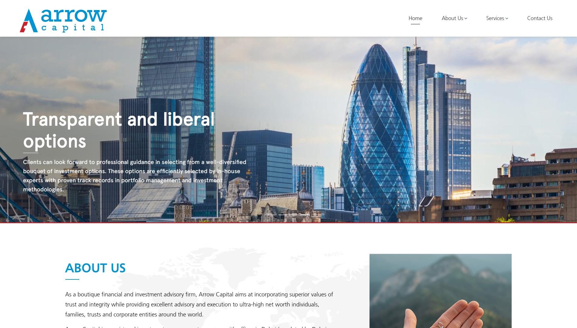 Arrow capital homepage