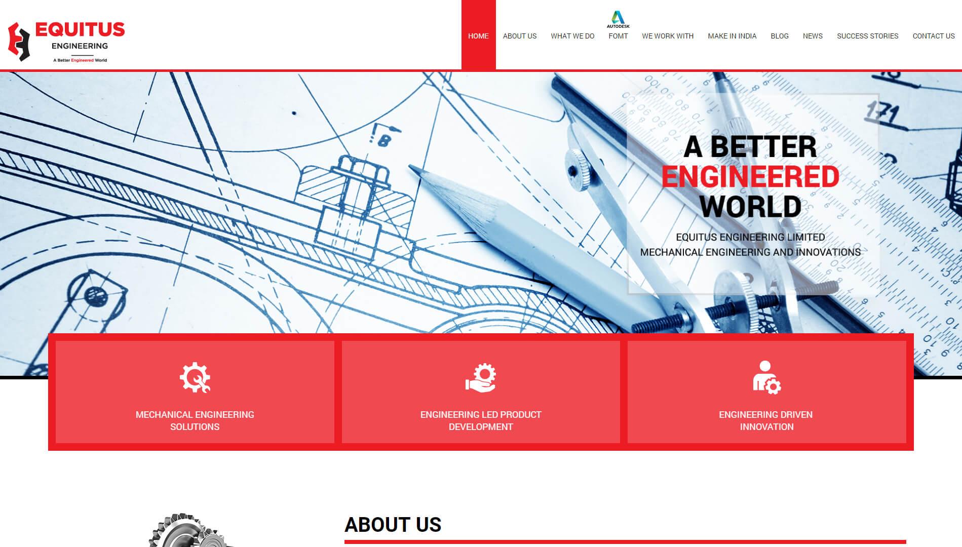 equitus engineering homepage design 2018