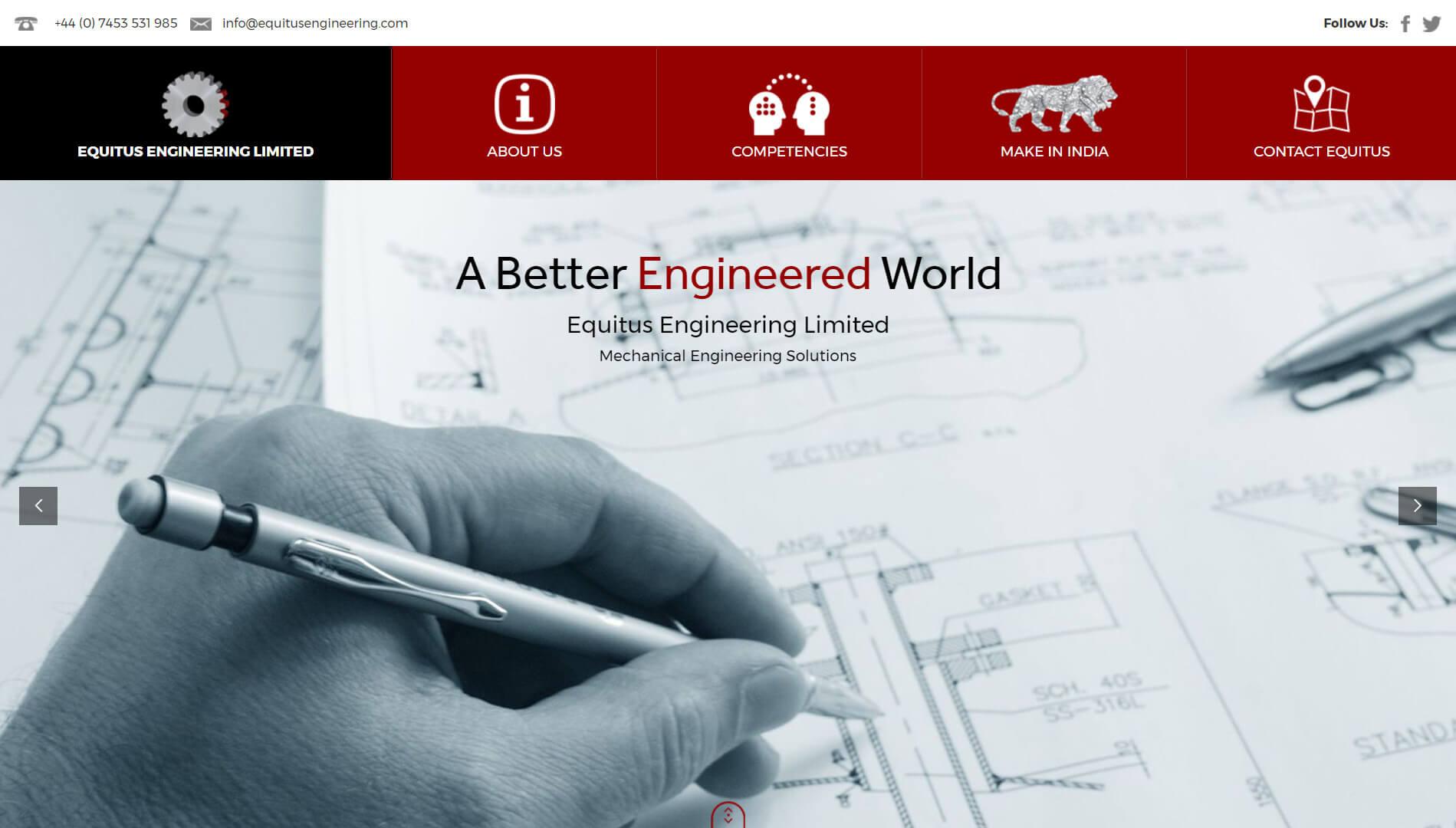 equitus engineering homepage