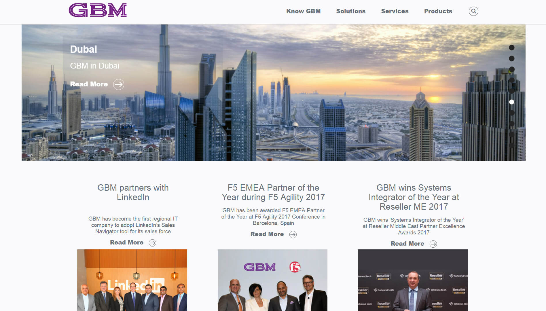 gbm homepage design