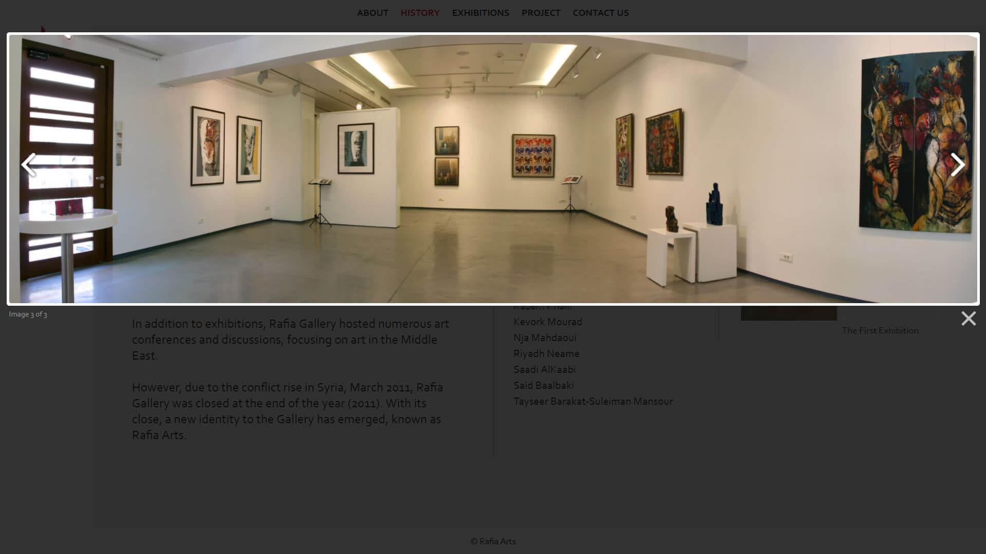 rafia arts gallery design