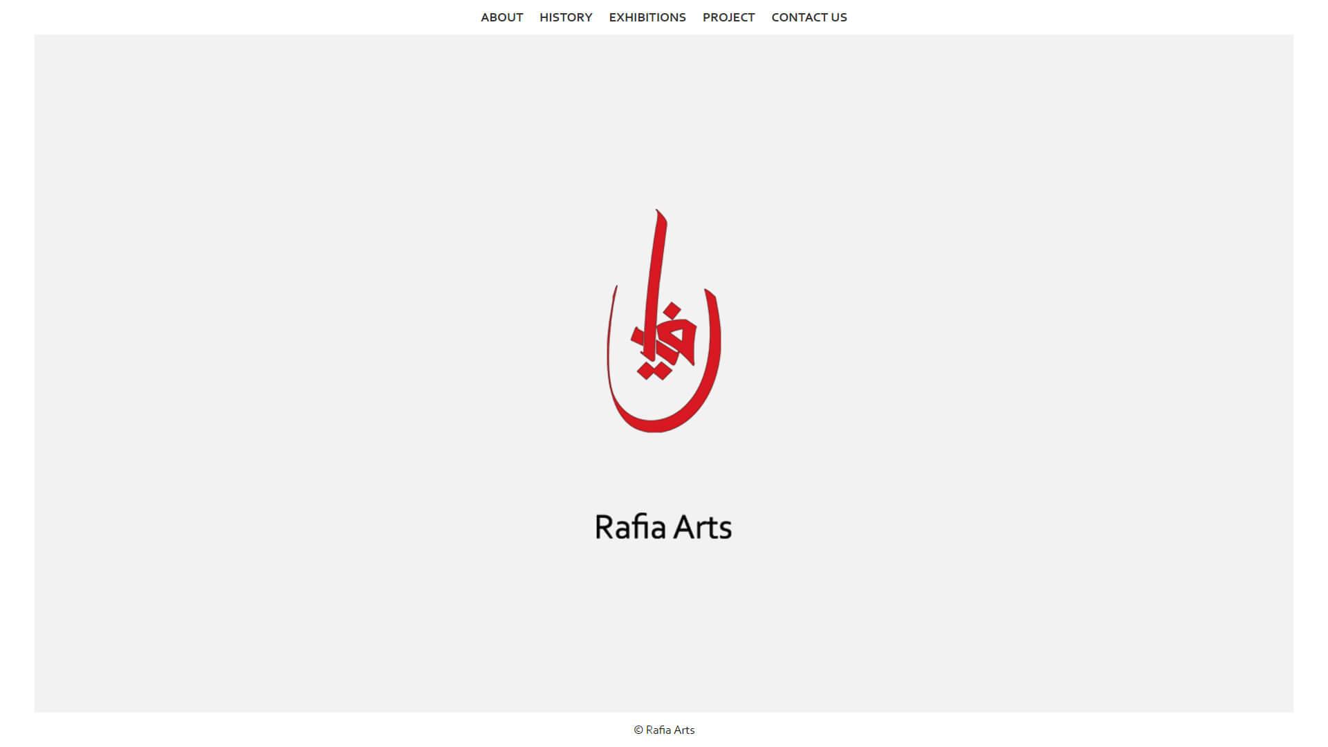 rafia arts homepage design