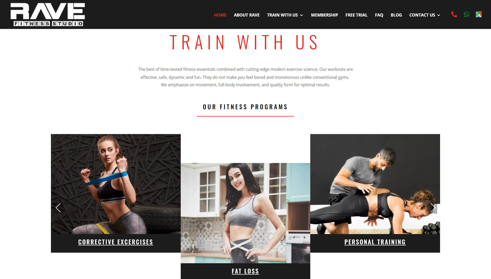 Rave Fitness Train with us