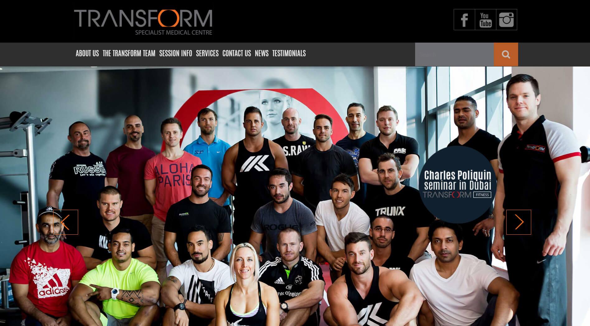 transform homepage design