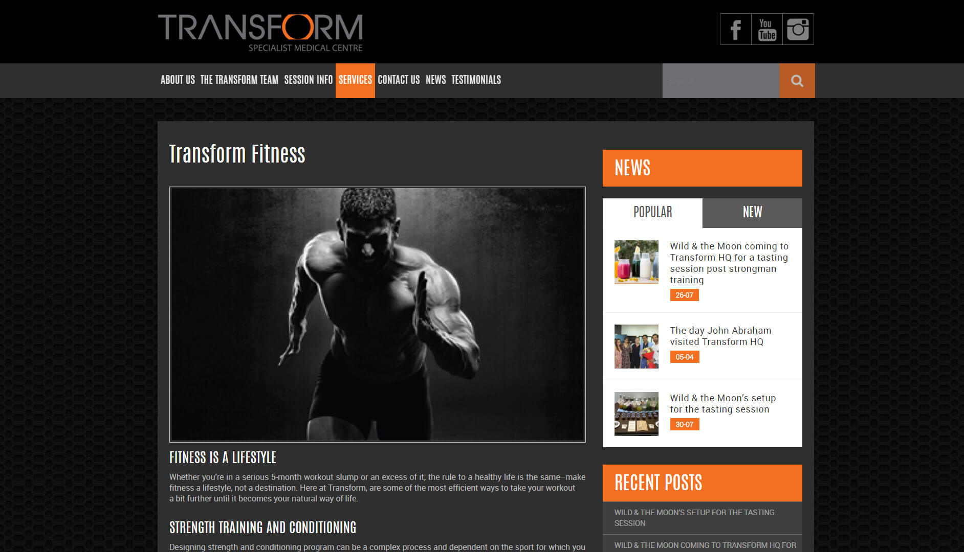 transform services page