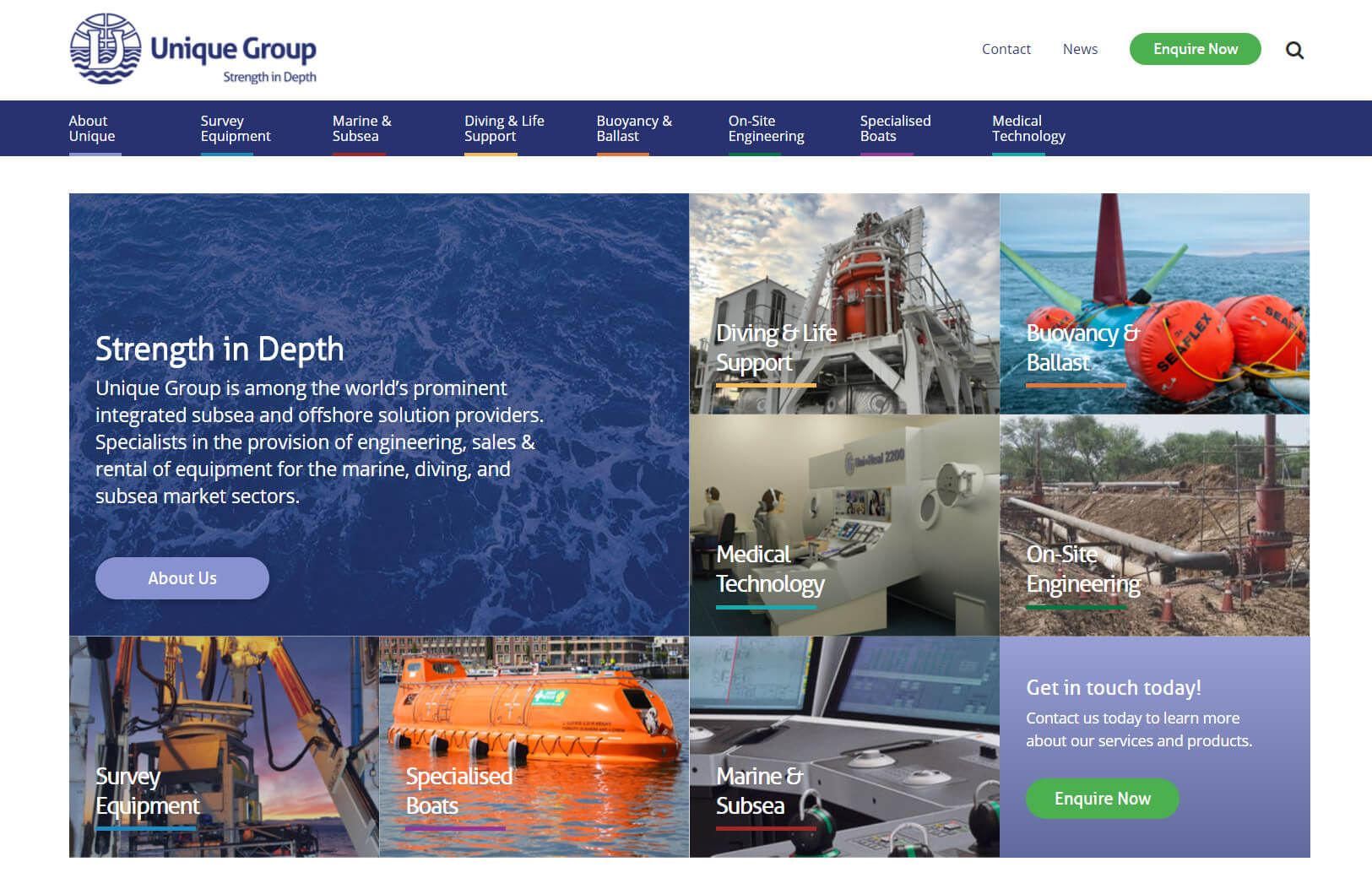 unique maritime group homepage